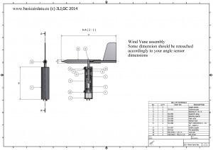 Basicairdata SV-510 - Wind vane- Assembly