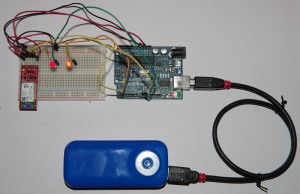 A bluetooth communication prototype circuit.