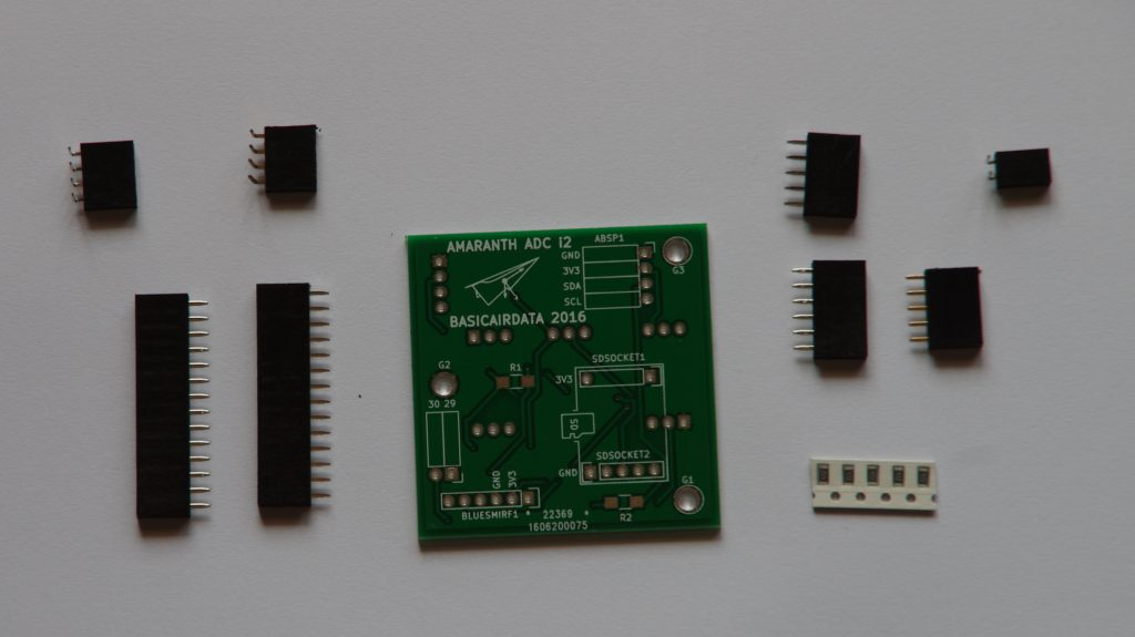Sockets and custom PCB for Amaranth i2 ADC